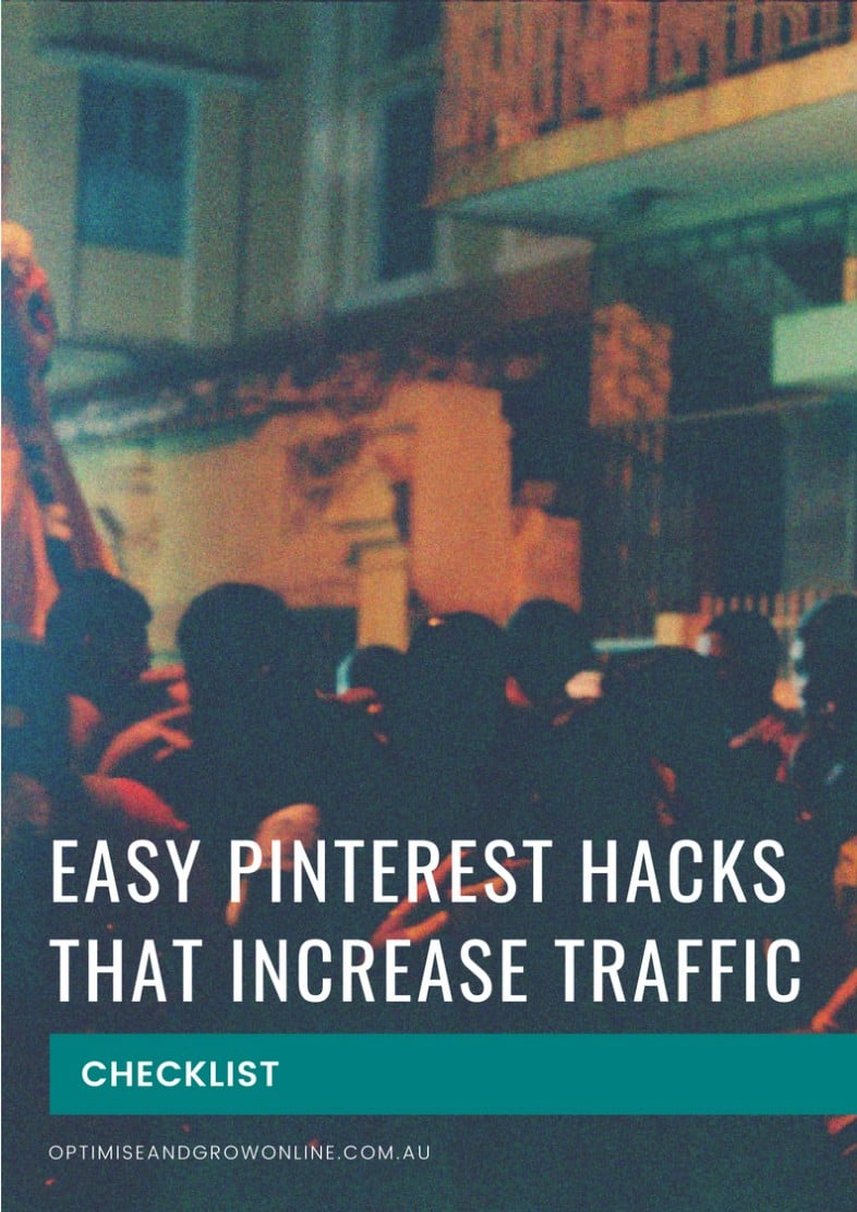 Pinterest hacks checklist