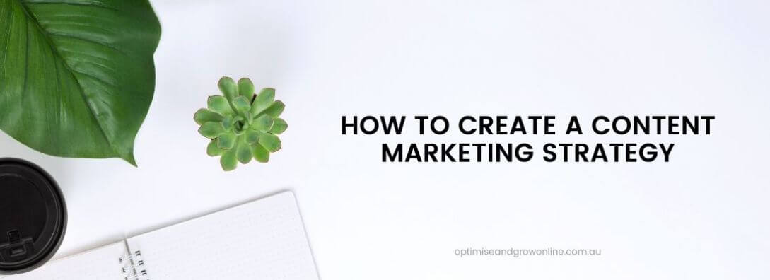 how to create a content marketing strategy section title banner